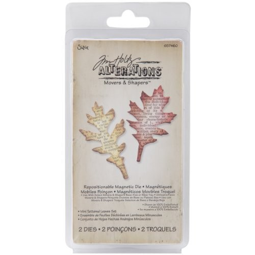 Sizzix Movers & Shapers Magnetic Die Set 2PK - Mini Tattered Leaves Set by Tim Holtz