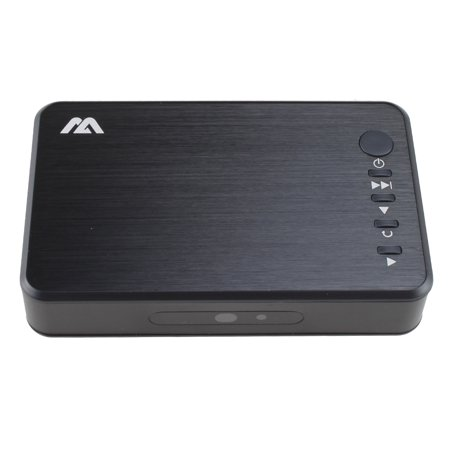 AGPtek 1080P HD HDMI USB Multi Media Player with Stereo L/R Audio Output with Remote (Best Hd Multimedia Player)