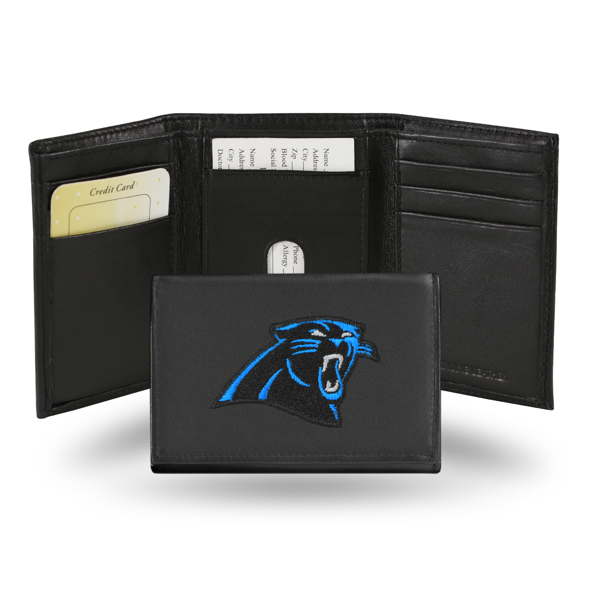 NFL - Men's Carolina Panthers Embroidered Trifold Wallet