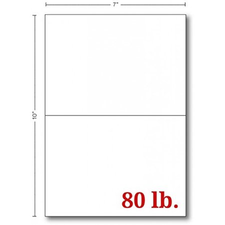 Greeting Cards - 5x7 Inches Heavyweight Blank White Card Paper- Half-Fold Design - Perfect for Birthday Invitations, Wedding, Holiday, Notes, Anniversary and All Occasions - Bulk Pack of 100 Cards (Blank Wedding Invitations)
