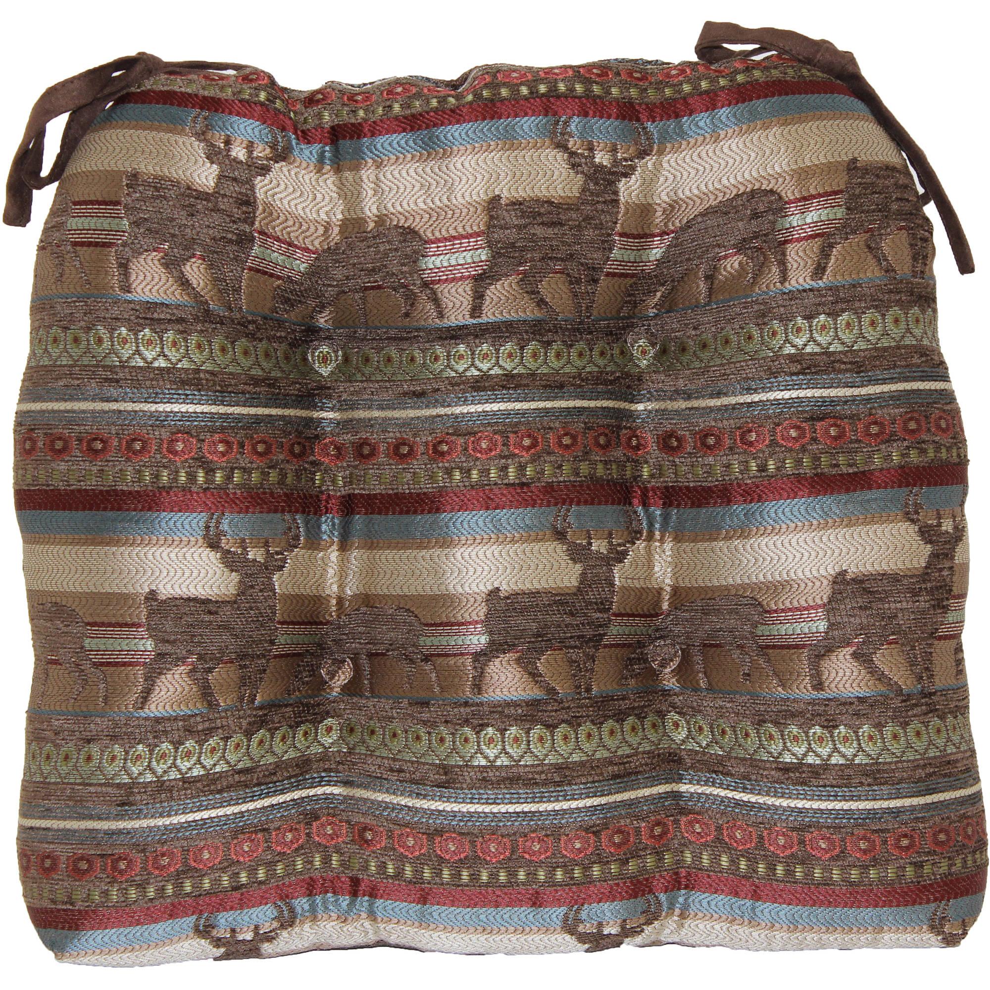 Mainstays Lodge Deer Stripe Chair Pad, Brown