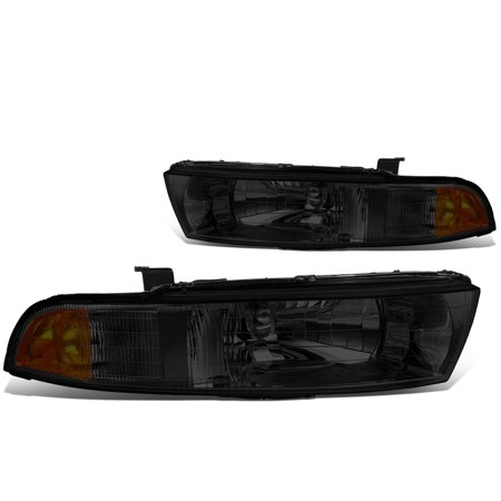 For 1999 to 2003 Mitsubishi Galant Headlight Smoked Housing Amber Corner Headlamp 00 01 02 Left+Right 2001 Mitsubishi Galant Headlight