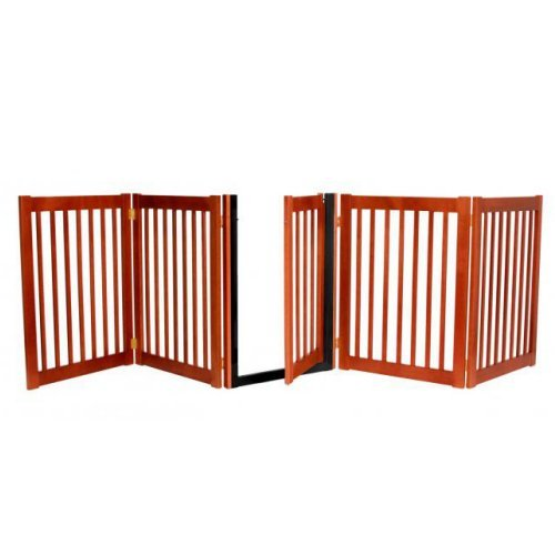 Dynamic Accents 32 in. Walk-Through 5-Panel Free Standing Gate