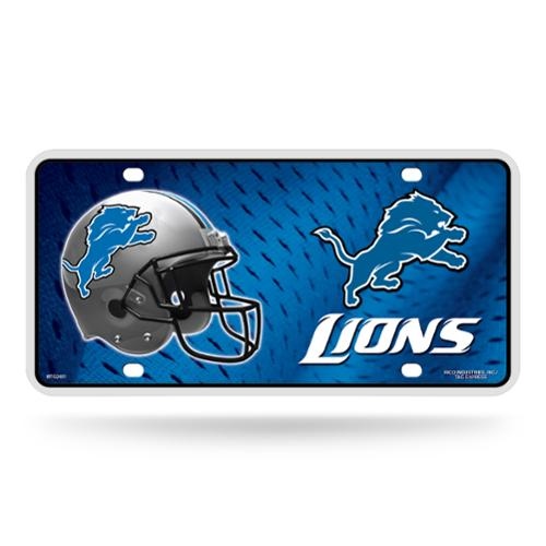 Detroit Lions Official NFL 12 inch x 6 inch  Metal License Plate by Rico Industries