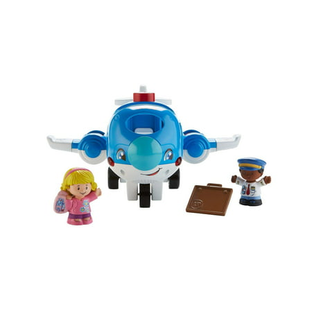 Little People Travel Together Airplane with Pilot Kurt & Emma - Little Farmhouse Toy