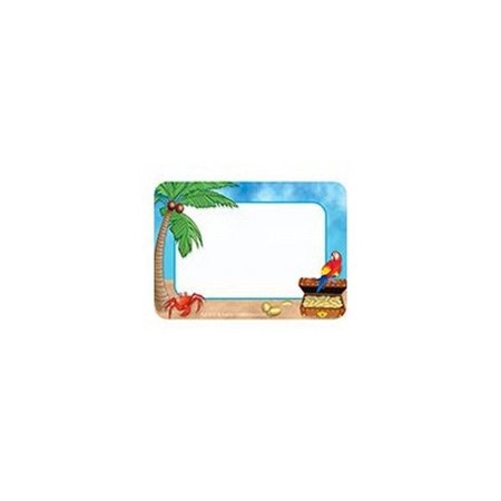 tcr5178 island adventure name tags labels school supplies for kids
