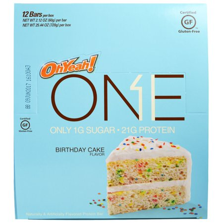 Oh Yeah One Bar Birthday Cake 12 Bars 212 Oz 60 G Eachpack Of 4