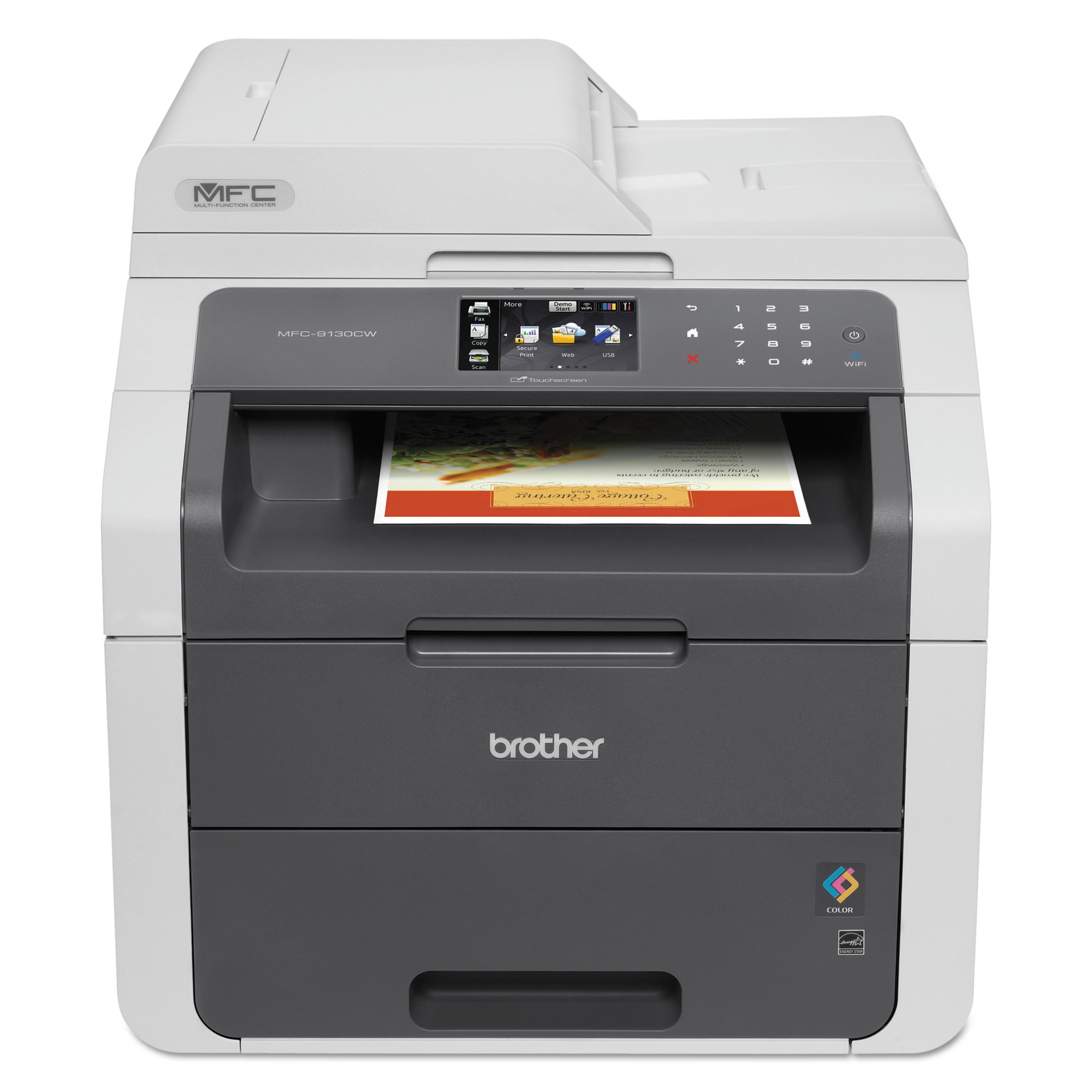 Image result for Brother Wireless digital color all-in-one copies, faxes, prints and scans.