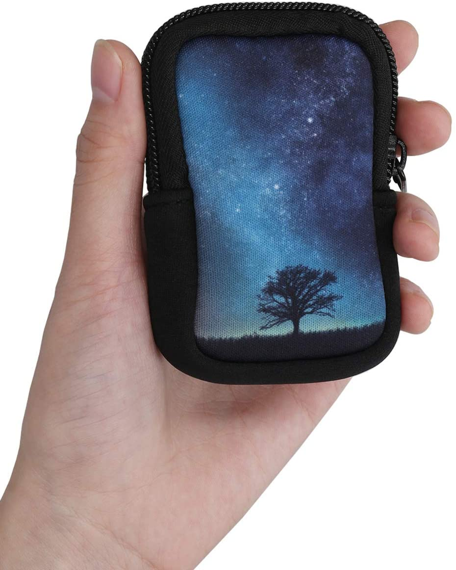 Pouch for Bike GPS Cosmic Nature Blue//Grey//Black kwmobile Case Compatible with Garmin Edge 530//830
