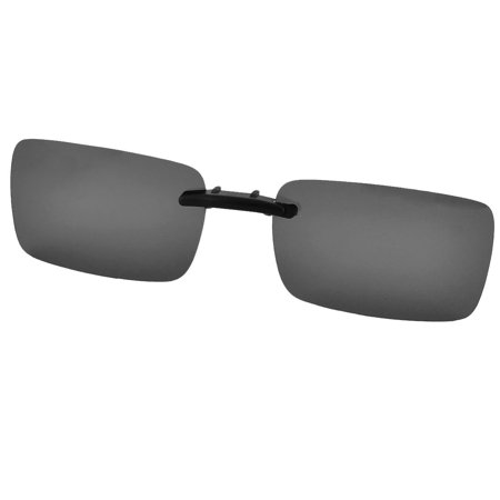Unisex Plastic Hiking Rimless Lens Clip On Polarized Sunglasses Glasses Black](great deals on sunglasses)