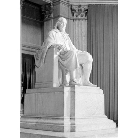 Posterazzi SAL255421213 USA Pennsylvania Philadelphia Statue of Benjamin Franklin in Benjamin Franklin National Memorial Print - 18 x 24 in. Benjamin Franklin National Memorial