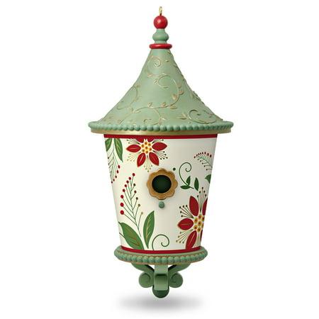 Hallmark Keepsake Christmas Ornament 2018 Year Dated, Poinsettia Beautiful Birdhouse ()