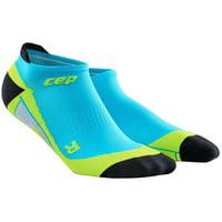 Men's Dynamic No Show Compression Socks (Blue Hawaii, XL)