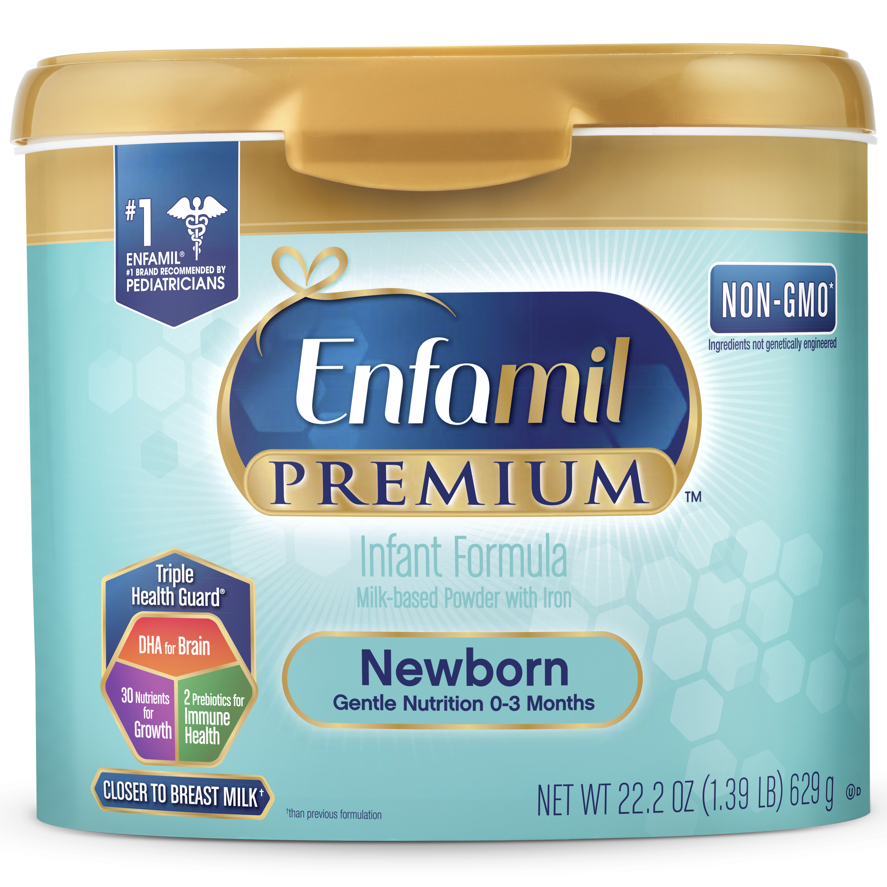 Enfamil Newborn PREMIUM Infant Formula, Powder, 22.2 oz Reusable Tub