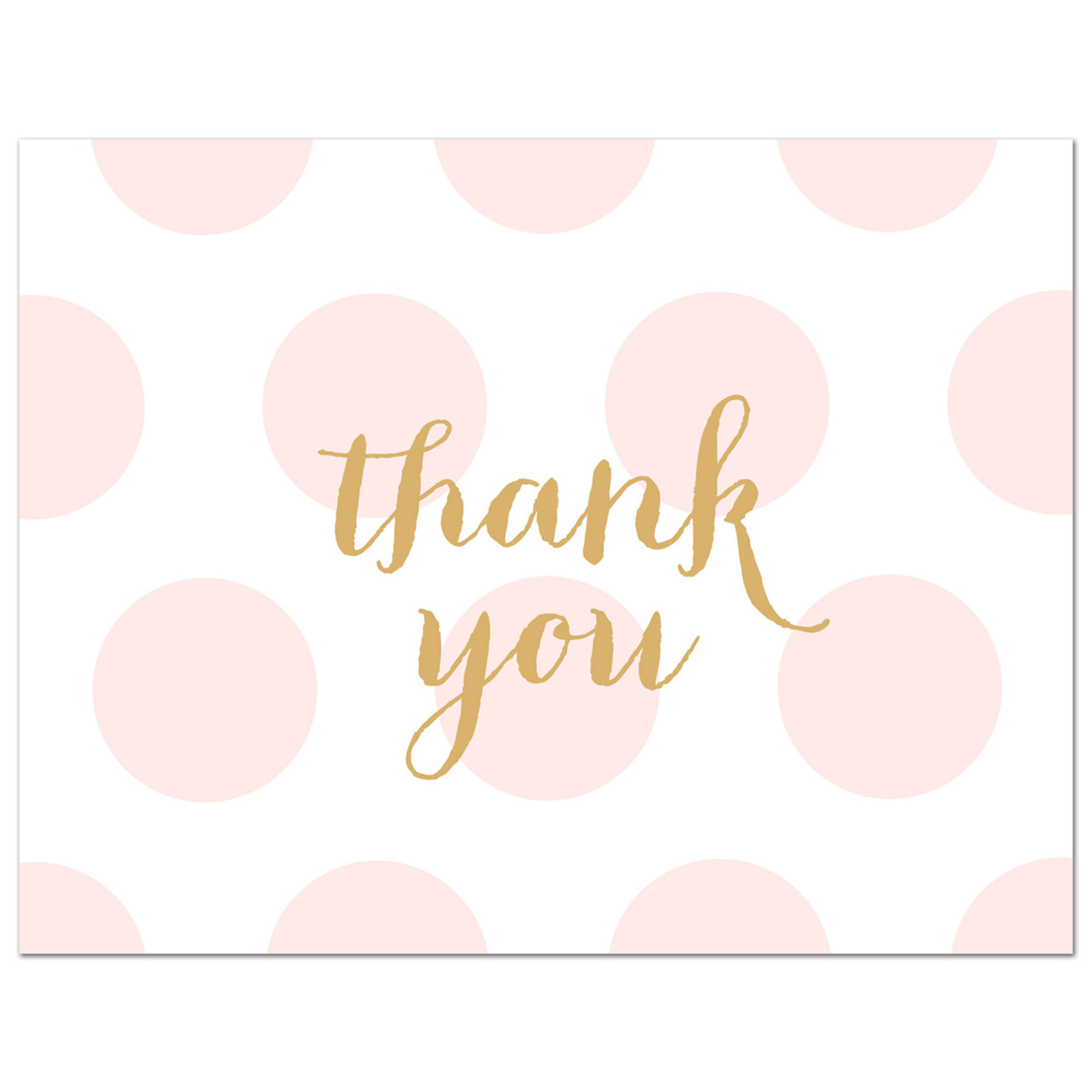 Pink Polka Dots Baby Shower Thank You Cards and Envelopes - 50 Count