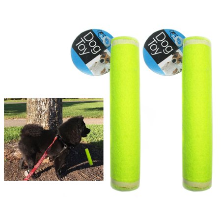 Fetch Stick (2 Pet Dog Puppy Tennis Ball Stick Throw Chucker Launcher Squeaky Toy Play Fetch)