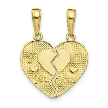 10k Yellow Gold I Love You 2 Piece Break-a-part -