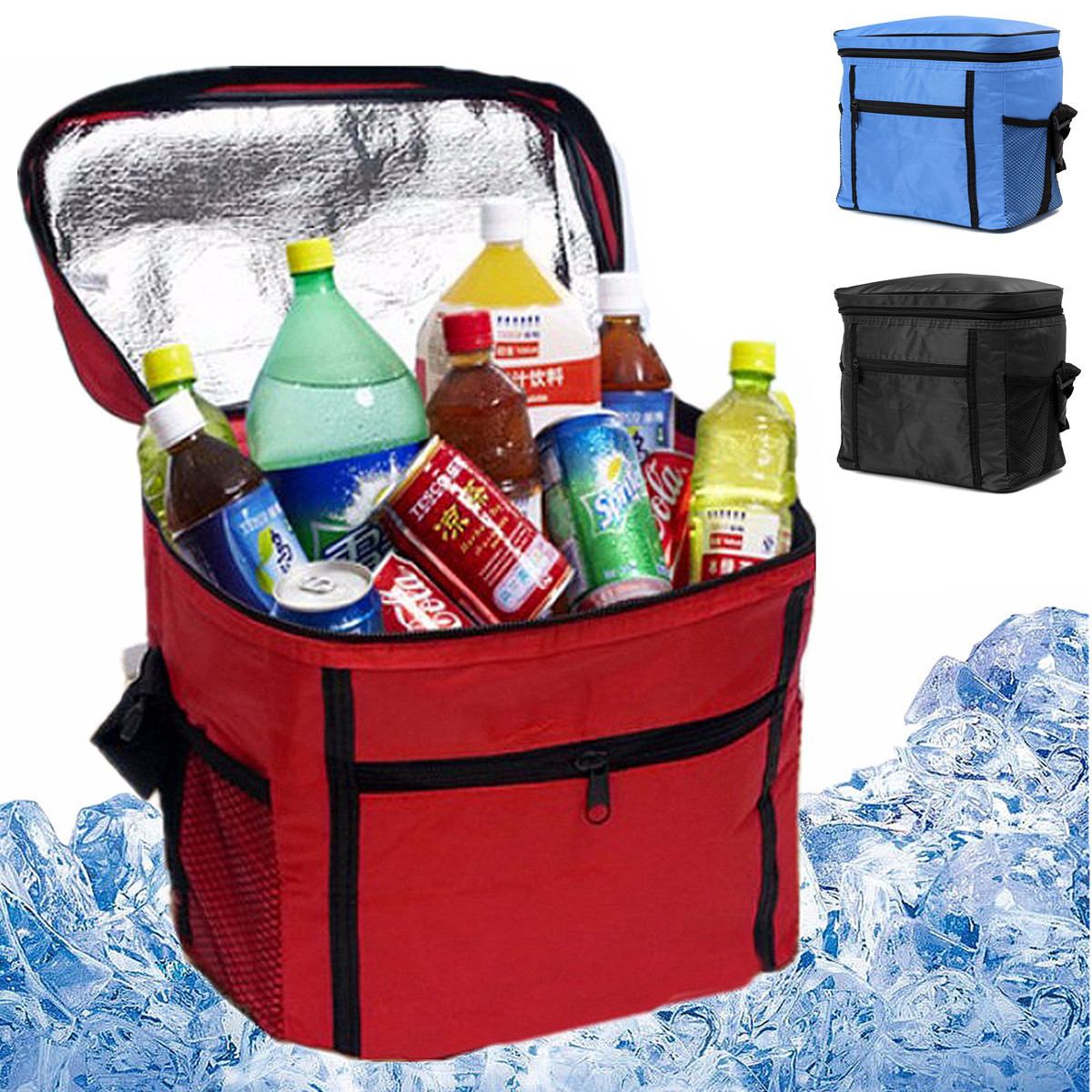 Portable Large Picnic Lunch Storage Bag Travel Thermal Insulated Cool Bag Tote Lunch Drink Bags Boxes