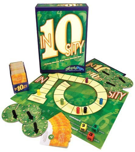 Trivia Board Game, gameboard, die, answer spinners, pawns By In10sity Ship from US by