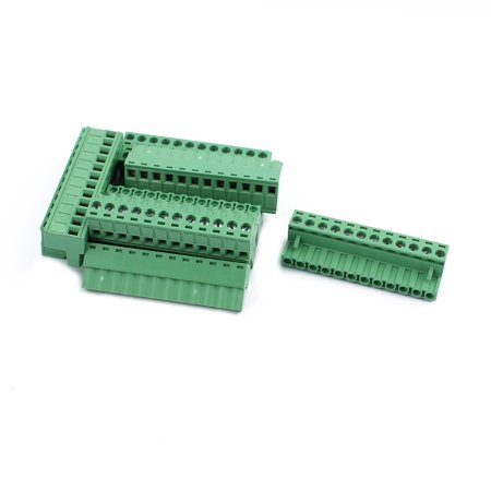 10Pcs 300V KF2EDGK 5 08mm Pitch 12-Pin PCB Screw Terminal Block Connector
