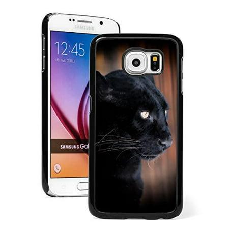 Samsung Galaxy (S7 Edge) Hard Back Case Cover Black Leopard Panther (Black ) (Black Leopard Hard Case)