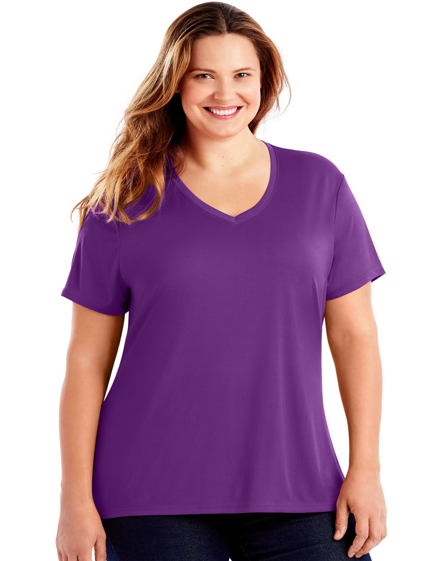 758f77bcc87 Just My Size Womens Cool DRI Short-Sleeve V-Neck Tee
