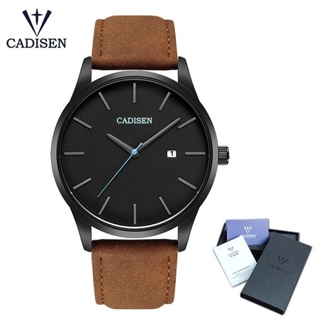 Cadisen Fashion Men Watches Quartz Luxury Sports Wrist Watch Calendar Business Watch - image 1 of 7