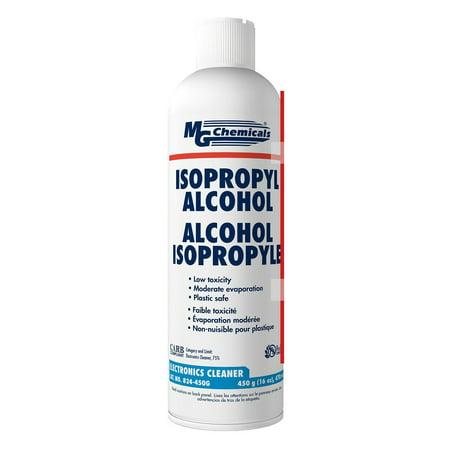 MG Chemicals 99.9% Isopropyl Alcohol Liquid Cleaner, 16oz Aerosol Can, Clear