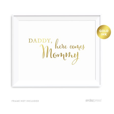 Daddy, Here Comes My Mommy Metallic Gold Wedding Party - Mommy Wholesale