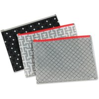 Pendaflex, PFX95194, Zipper Fashion Print Poly Envelopes, 3 / Pack, Assorted