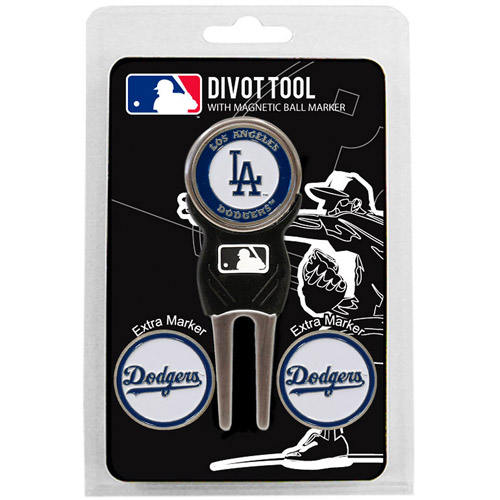 Team Golf MLB Los Angeles Dodgers Divot Tool Pack With 3 Golf Ball Markers