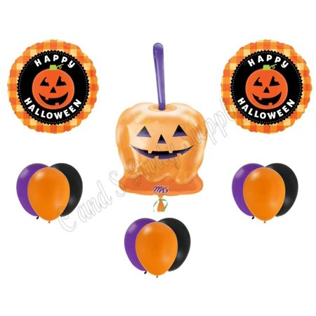 CANDY APPLE HALLOWEEN Party Balloons Decoration Supplies Trick Or Treat Pumpkin](Trick Or Treat Halloween Pumpkin)