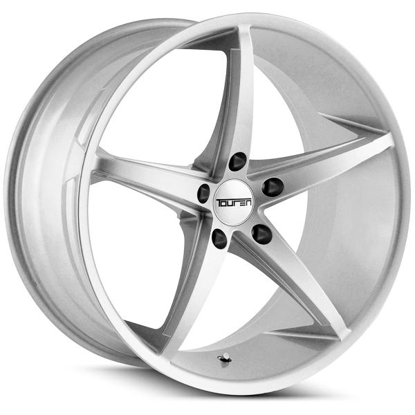 """20"""" Inch Touren TR70 20x10 5x120 +40mm Silver Wheel Rim"""