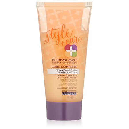 ($35 Value) Pureology Curl Complete Style Plus Care Infusion Cream Hair Gel, 5 Oz