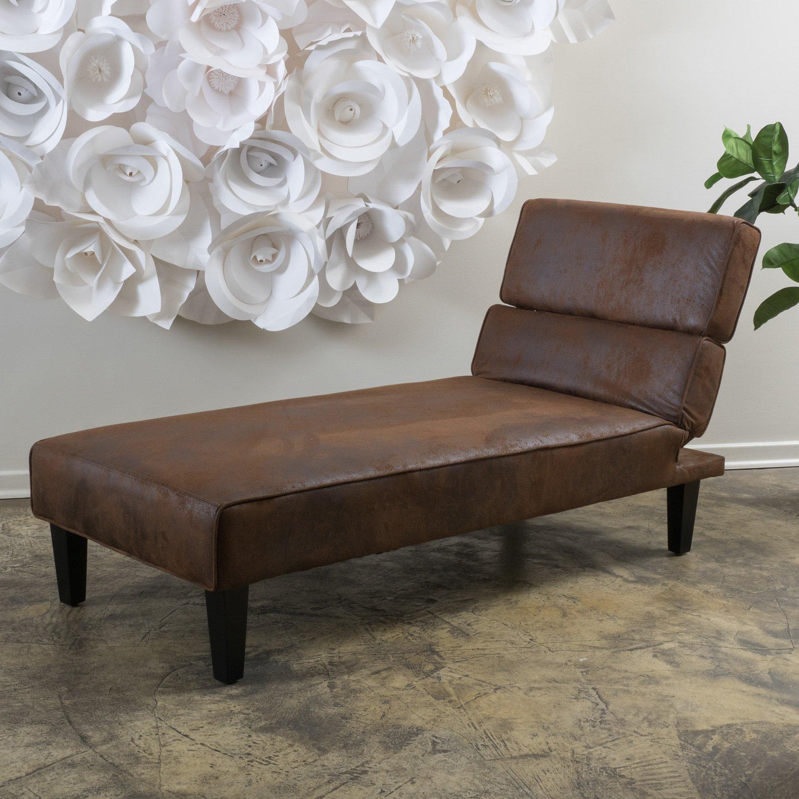 Joanne Microfiber Chaise Lounge