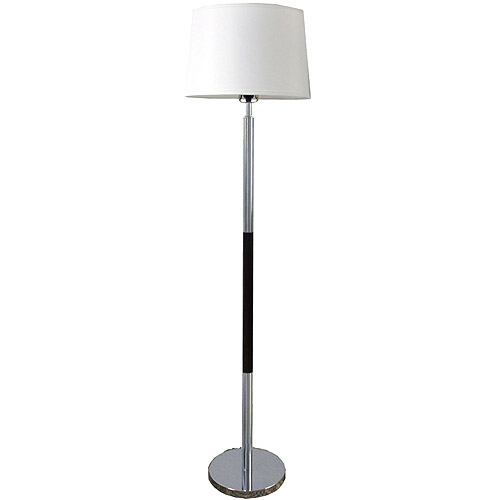 ORE International Contemporary Metal Floor Lamp, Chrome