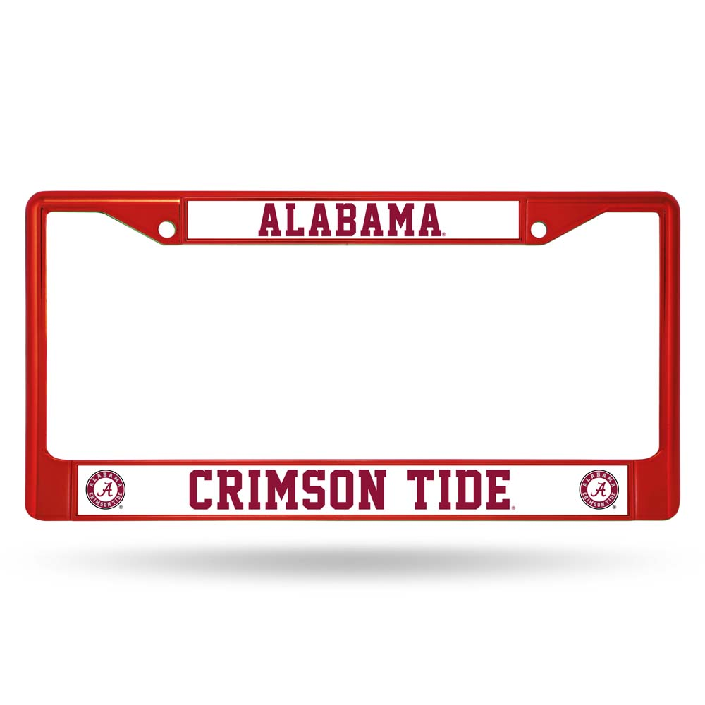 Alabama Crimson Tide Metal License Plate Frame - Red by Rico Industries