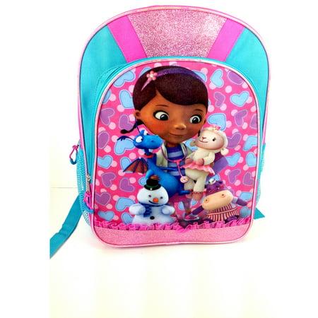 Doc McStuffins - Disney 16 Backpack with LED Lights - Walmart.com ab6ac14bcd008