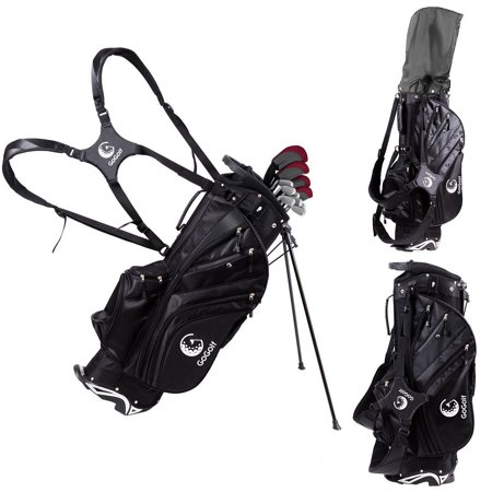 hyperlite golf stand cart bag 6 way divider w/shoulder