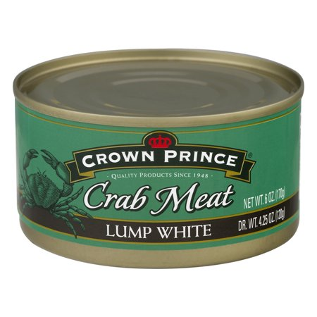 (2 Pack) Crown Prince Crab Meat Lump White, 6.0 OZ