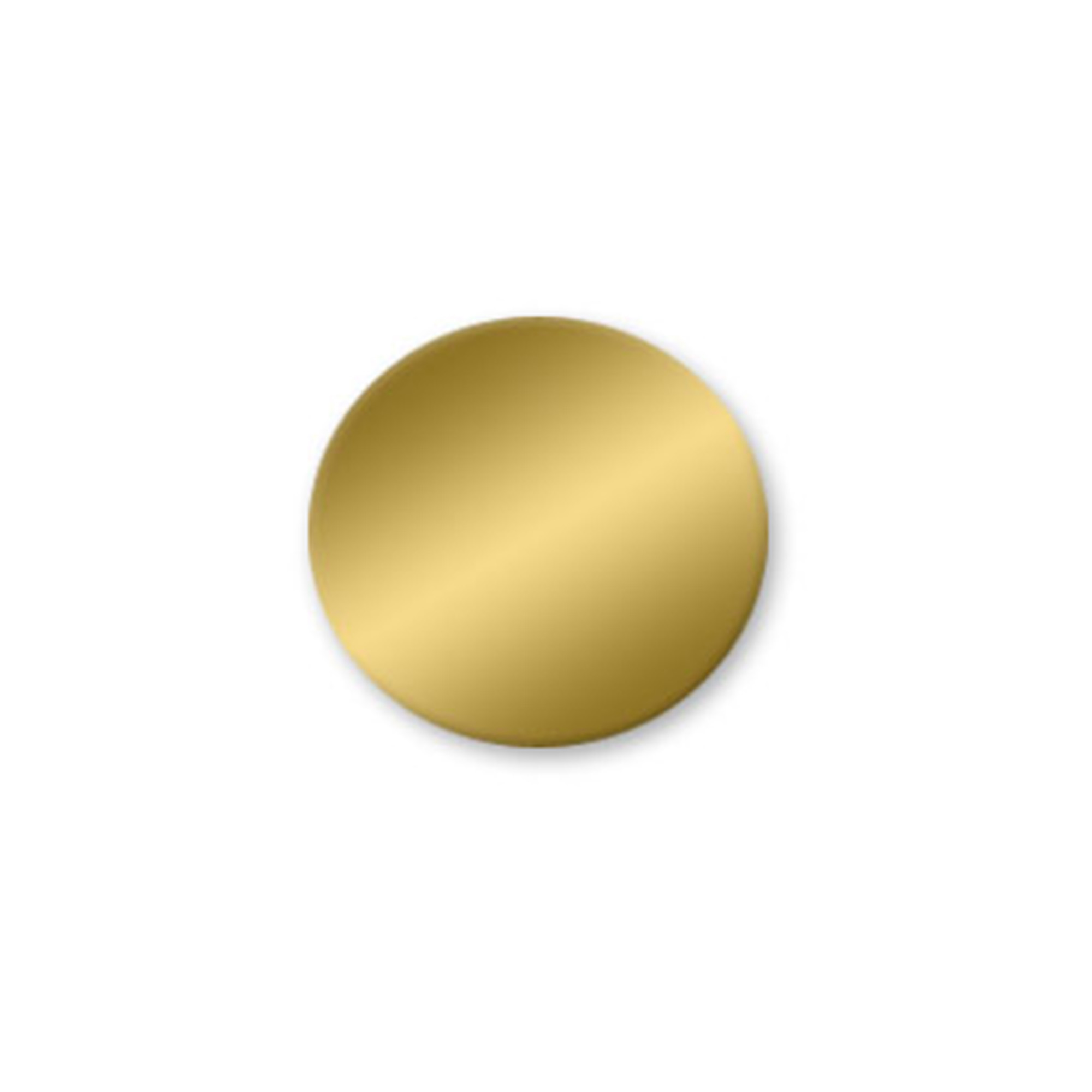 1-1/2 Circle Brass Tags - No Hole - Pack/25