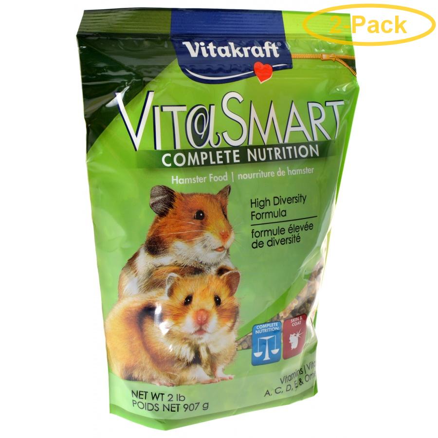 Vitakraft VitaSmart Complete Nutrition Hamster Food 2 lbs Pack of 2 by