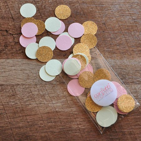 Mint, Pink and Gold Confetti Circles 1
