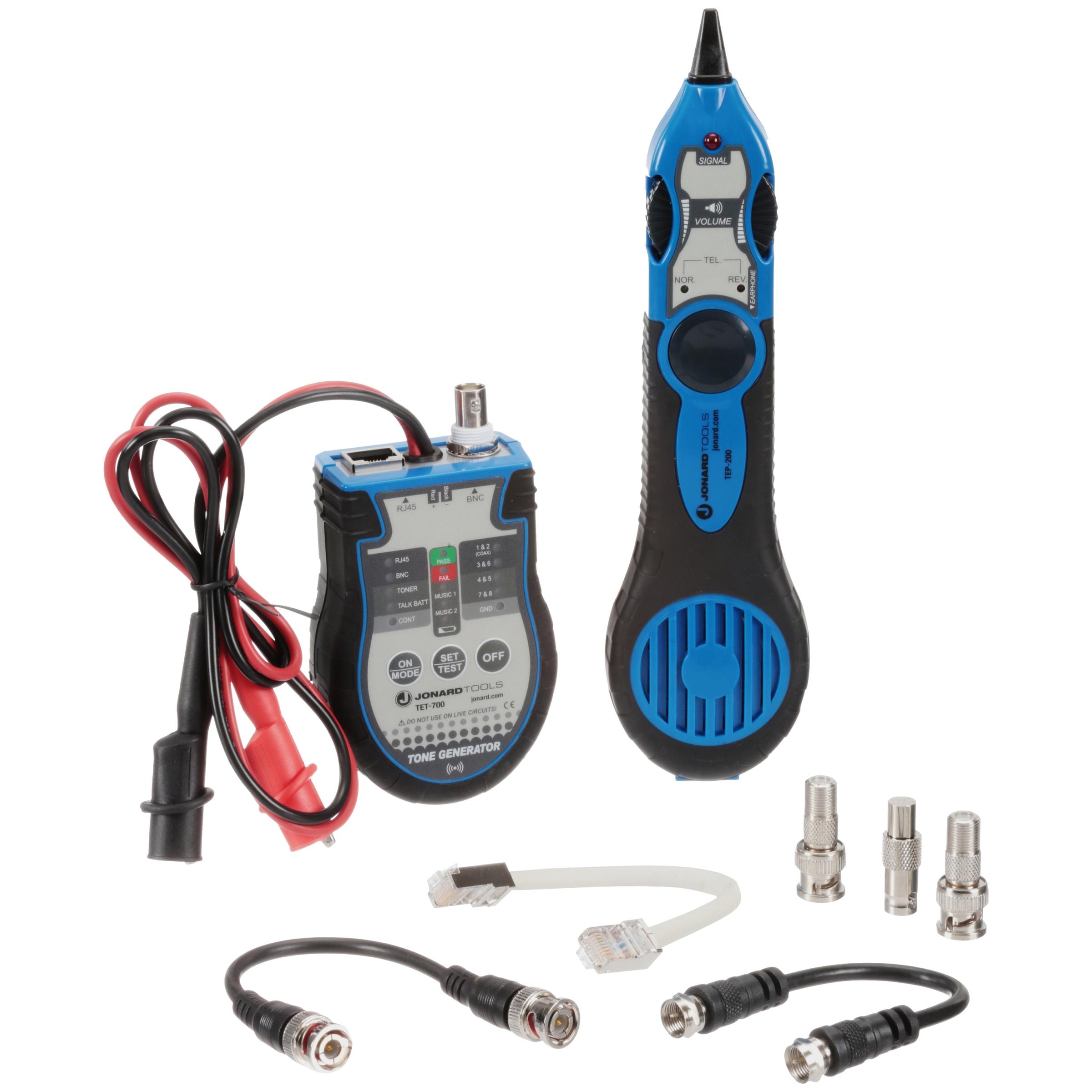 Jonard Tools® Multi-Function Cable Tester Toner & Probe Kit