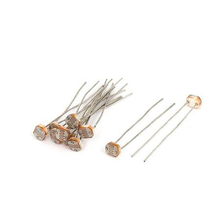 Unique Bargains 10pcs 5-10K ohm LDR Resistor Light-Dependent ...