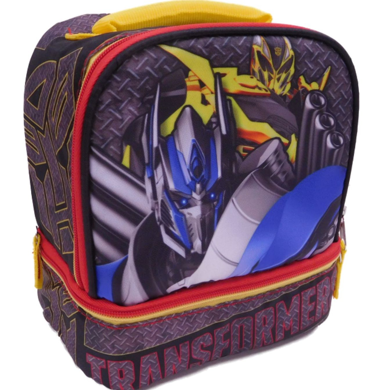 """TRANSFORMERS BUMBLEBEE 16/"""" Full Size Light-Up Boys Backpack w//Optional Lunch Box"""