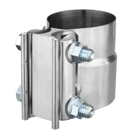 """2.25"""" Exhaust Clamp Stainless Steel Lap Joint Band Polished For Catback Muffler  - image 3 de 7"""
