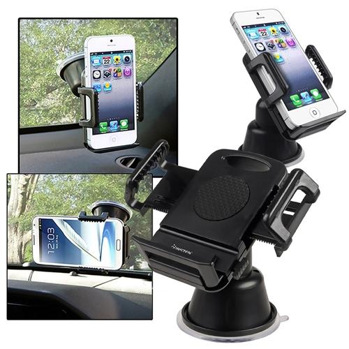 Insten 2pcs Car Mount Phone Holder Universal For iPhone 6s 6 Plus SE 5s / Samsung LG HTC ASUS ZTE Kyocera Motorola Nokia Microsoft Huawei Android Smartphone Cell Phone MP3 MP4 GPS Devices
