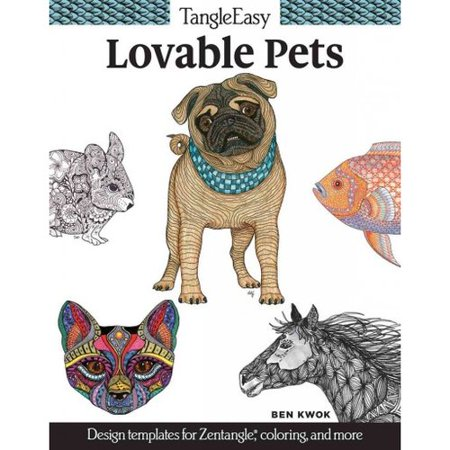 Lovable Pets Adult Coloring Book: Design Templates for Zentangle, Coloring, and More