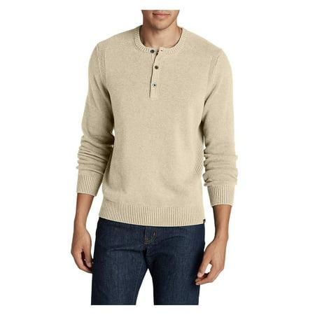 Eddie Bauer Men's Signature Cotton Henley Sweater (Signature Cotton Sweater)